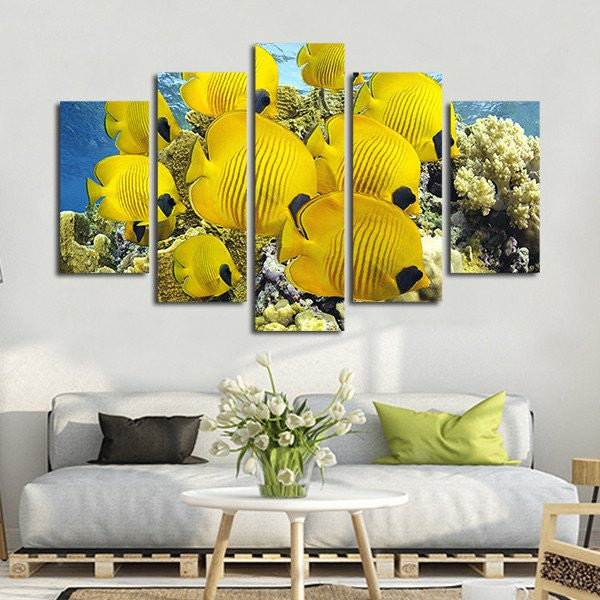 Butterflyfish Multi Panel Canvas Wall Art | ElephantStock