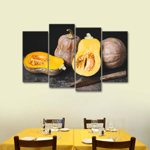 Butternut Squash Multi Panel Canvas Wall Art - Kitchen