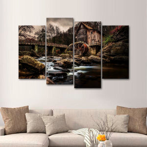 By the Creek Multi Panel Canvas Wall Art - Nature