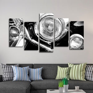 Vintage Motorbike Multi Panel Canvas Wall Art - Bike