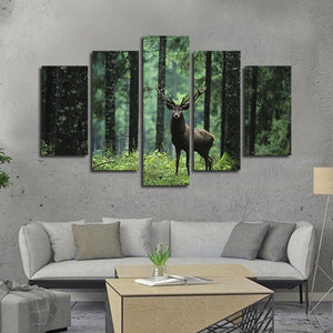Elk Hunting Multi Panel Canvas Wall Art - Hunting