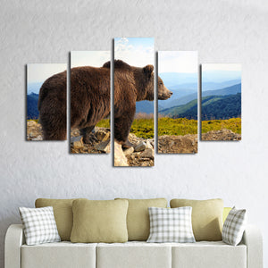 Bear Multi Panel Canvas Wall Art - Animals
