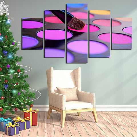 Eyeshadow choice Multi Panel Canvas Wall Art