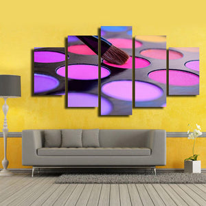 Eyeshadow Choice Multi Panel Canvas Wall Art - Makeup