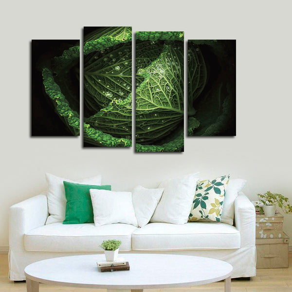 Cabbage Multi Panel Canvas Wall Art