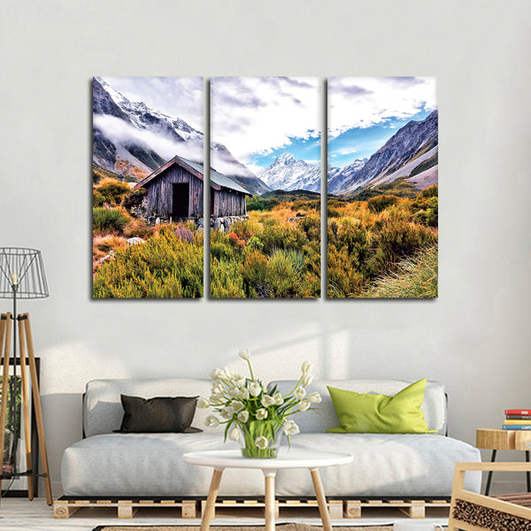 Cabin in the Hills Multi Panel Canvas Wall Art