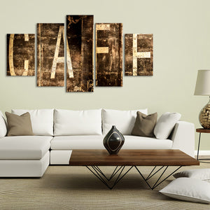 Cafe Multi Panel Canvas Wall Art - Coffee