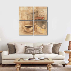Cafe de Paris I Multi Panel Canvas Wall Art - Paris