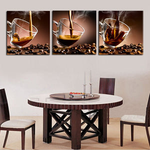 Caffeine Sensation Canvas Set Wall Art - Coffee