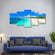 Calm Summer Waters Multi Panel Canvas Wall Art