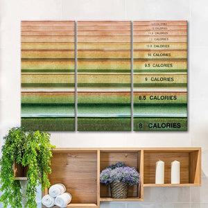 Calorie Count Multi Panel Canvas Wall Art - Nutrition