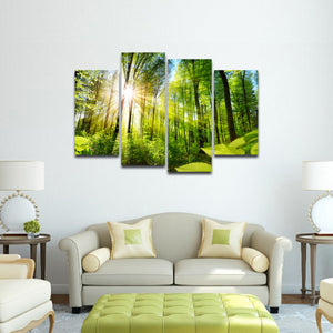 Camping Splendor Multi Panel Canvas Wall Art - Nature