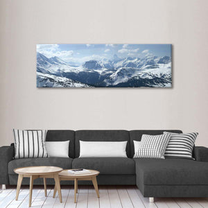 Canadian Rockies in Winter Multi Panel Canvas Wall Art - Nature