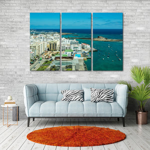 Canary Islands Multi Panel Canvas Wall Art - Beach