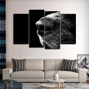 Canine Nose Multi Panel Canvas Wall Art - Dog