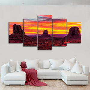 Canyon Sunset Multi Panel Canvas Wall Art - Nature