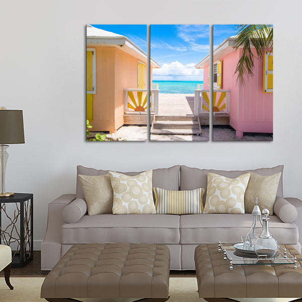 Caribbean Island Home Multi Panel Canvas Wall Art