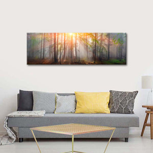 Carpathian Forest Sunrise Multi Panel Canvas Wall Art - Nature