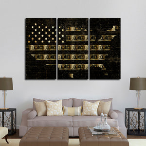 Cash America Multi Panel Canvas Wall Art - World_map
