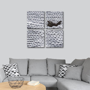 Cat Nap Multi Panel Canvas Wall Art - Cat