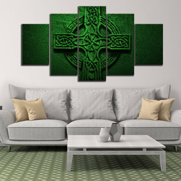 Celtic Cross Multi Panel Canvas Wall Art | ElephantStock