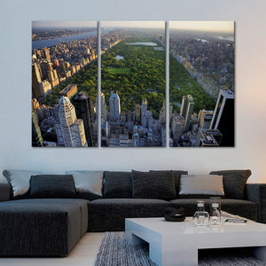 Central Park Multi Panel Canvas Wall Art - City