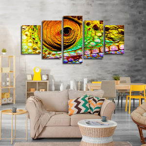 Chameleon Eye Multi Panel Canvas Wall Art - Animals