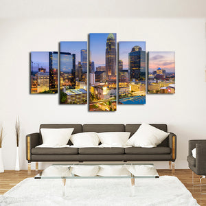 Charlotte Multi Panel Canvas Wall Art - City