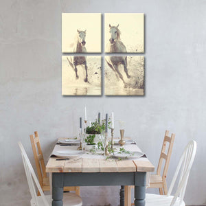 Chasing Horses Multi Panel Canvas Wall Art - Horse