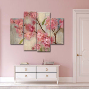 Cherry Blossom II Multi Panel Canvas Wall Art - Flower