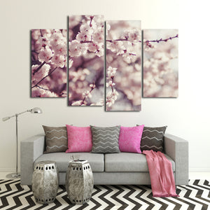 Cherry Blossom Multi Panel Canvas Wall Art - Flower