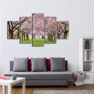 Cherry Blossom Trees Multi Panel Canvas Wall Art - Flower