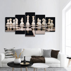 Chess Game Multi Panel Canvas Wall Art - Chess