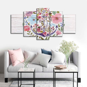 Chic Anchor Multi Panel Canvas Wall Art - Nautical