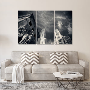 Chicago Skyline Multi Panel Canvas Wall Art - City