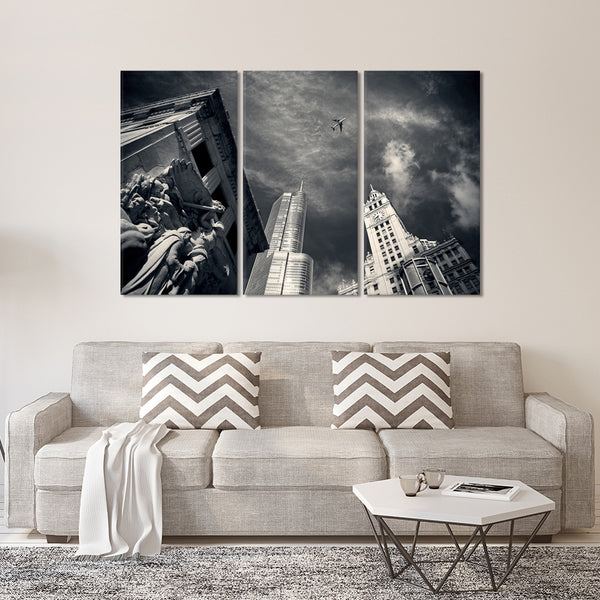 Chicago Skyline Multi Panel Canvas Wall Art