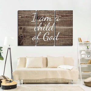 Child Of God Multi Panel Canvas Wall Art - Religion