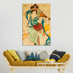 Chinese Musician Multi Panel Canvas Wall Art - Asian