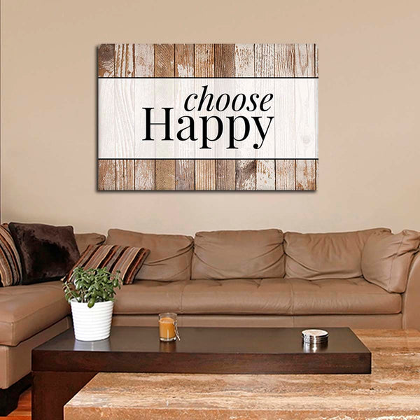 Choose Happy Canvas Wall Art | ElephantStock