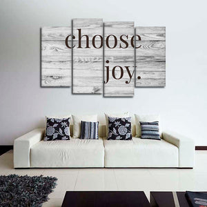 Choose Joy Multi Panel Canvas Wall Art - Inspiration