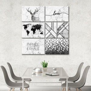 Marble Aesthetic Canvas Set Wall Art - Indie