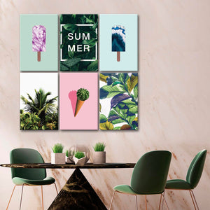 Summer Canvas Set Wall Art - Color