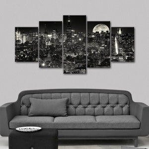 City That Never Sleeps Multi Panel Canvas Wall Art - City