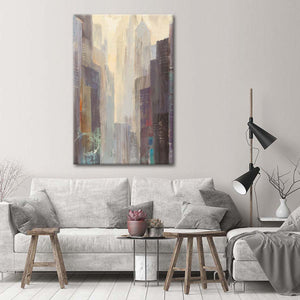 City at Dawn Multi Panel Canvas Wall Art - City