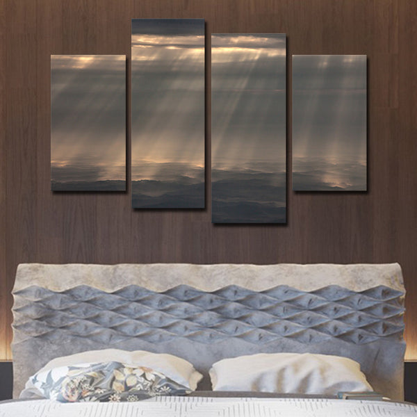 Cloudy Sky Multi Panel Canvas Wall Art