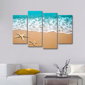 Coastal Gems Multi Panel Canvas Wall Art - Beach