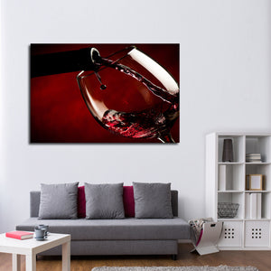 Coat The Glass Multi Panel Canvas Wall Art - Winery