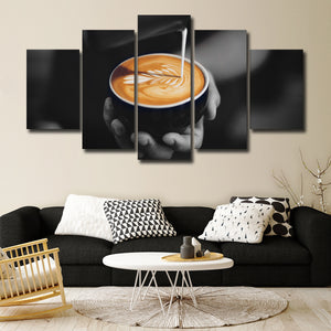 Coffee Artist Multi Panel Canvas Wall Art - Coffee
