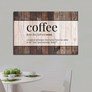Coffee Definition Canvas Wall Art - Kitchen