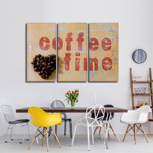 Coffee Time Multi Panel Canvas Wall Art - Coffee